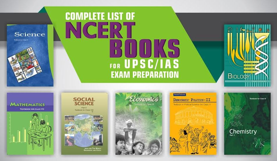 NCERT textbooks from class 6 to class 12 for UPSC / IAS Examinations
