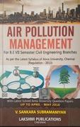 Air Pollution Management - V Sankara Subramaniyam