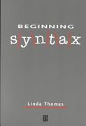 Beginning Syntax Thomas detail