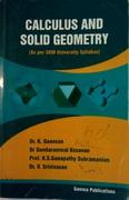 Calculus And Solid Geometry Kganesan Dr Sundarammal Kesavan Ksganapathy Drv Srinivasan detail