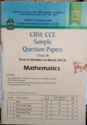Cbse Continuous And Comprehensive Evaluation Cbse Sample Question Paper Mathematics - Oswaal Books