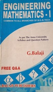 Engineering Mathematics-I G Balaji detail