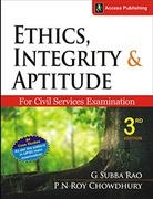 Ethicsintegrity&Aptitude For Civil Services Examinations  G Subha Rao & P N Roy Chowdhury detail