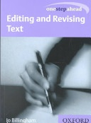 Editing And Revising Text One Step Ahead None detail