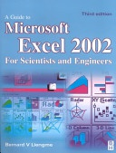 Guide To Microsoft Excel 2002 For Scientists And Engineers None detail
