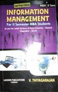 Information Management For Ii Semester Mba Students - V Thiyagarajan