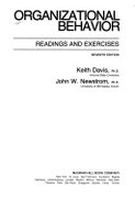 Organizational Behavior Readings And Exercises Management S  Davis Keith detail