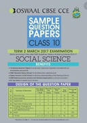Oswaal Cbse Cce Sample Question Papers For Class 10 Term Ii October To March 2017 Social Science - Panel Of Experts