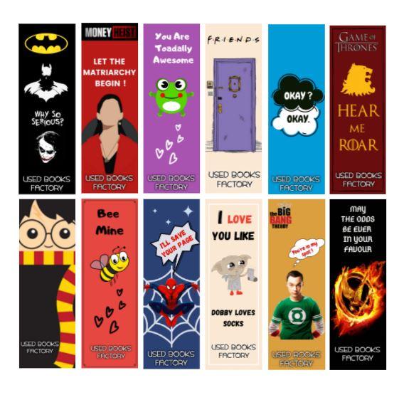 Premium Bookmarks -  Set Of 12 - Book Merchandise