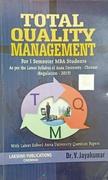 Total Quality Management For 1 Semester Mba Students DrV Jayakumar detail