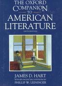 The Oxford Companion To American Literature Oxford Companions Hart James D  detail